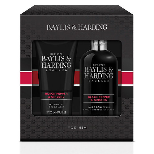 Baylis & Harding Men's Black Pepper & Ginseng 2 Piece Gift Set