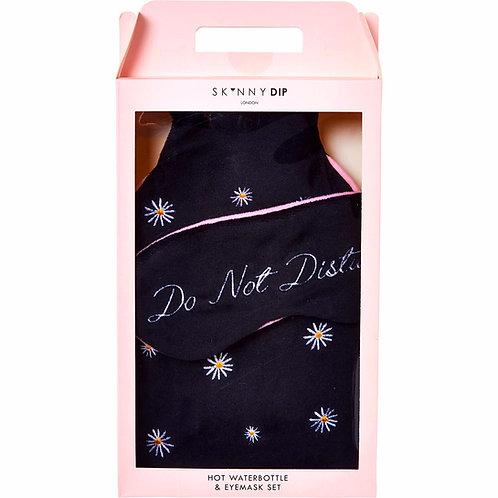 SKINNY DIP Black ''Do not Disturb'' Hot Waterbottle & Eyemask Set