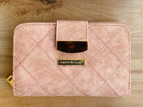 Diamond Detail Medium RFID Purse Rose Gold