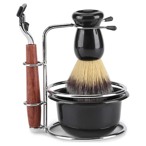 Fydun 4pz Shaving Kits for Men Gift Set Manual Razor + Stainess Steel Stand Hold