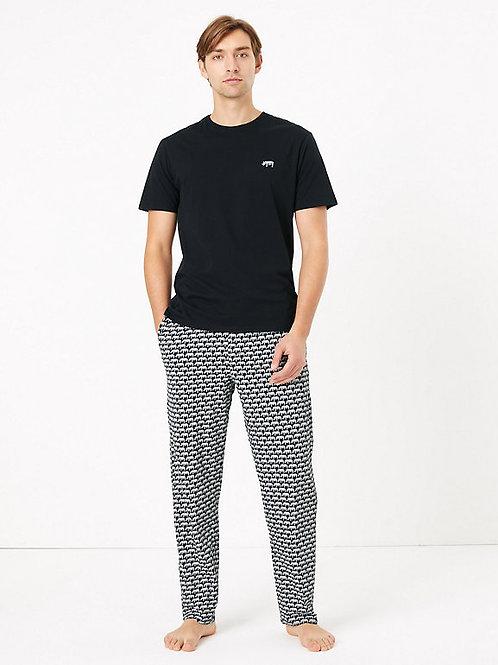 Pure Cotton Rhino Print Pyjama Set