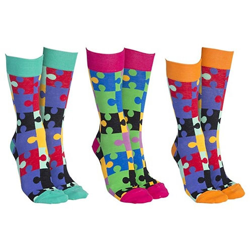 Sock Society Jigsaw Cotton Socks- 1 pair
