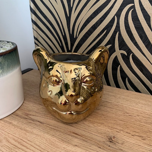 Leopard Head Candle Holder