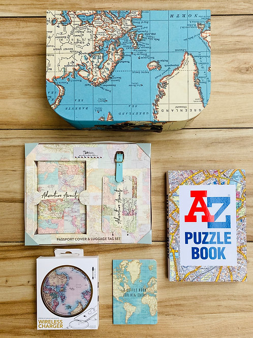 World Map Travel Themed Gift Set 2