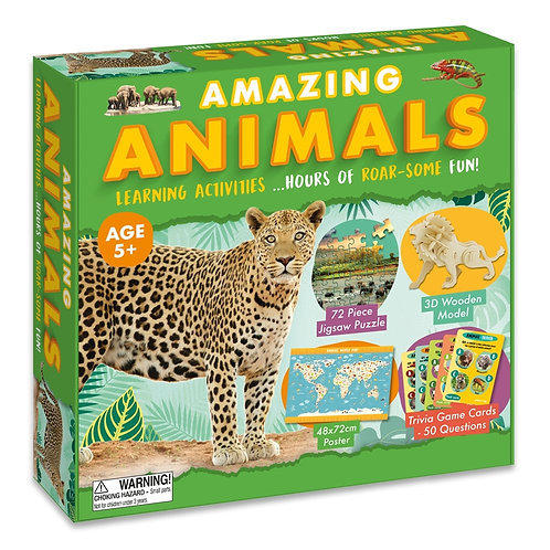 Learning Activity Set - Amazing Animals (For Kids)