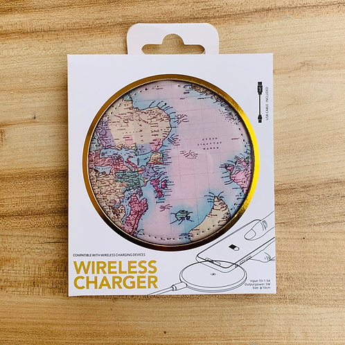 Wireless Charger - WORLD MAP
