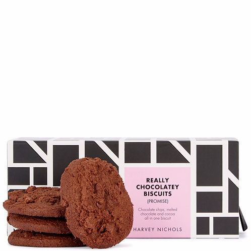 HARVEY NICHOLS  Really Chocolatey Luxury Biscuits 200g