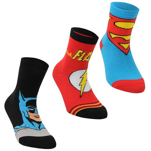 DC Justice League Socks (Set of 3)