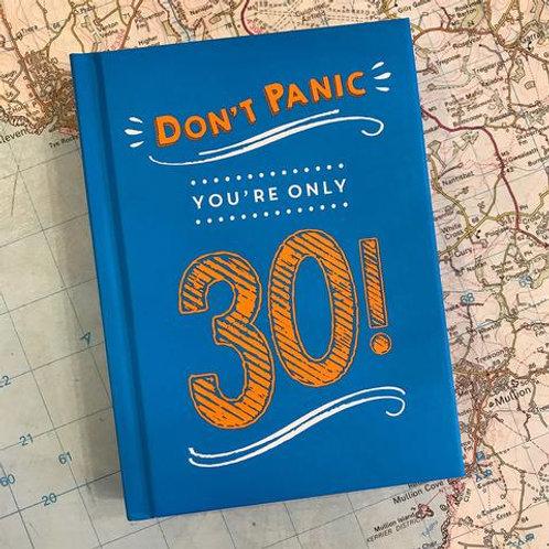 Dont Panic Landmark Birthday Books - 30, 50, 60