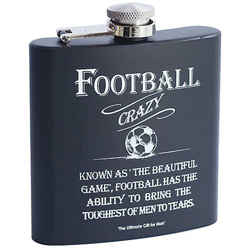 Football Crazy Whisky Flask
