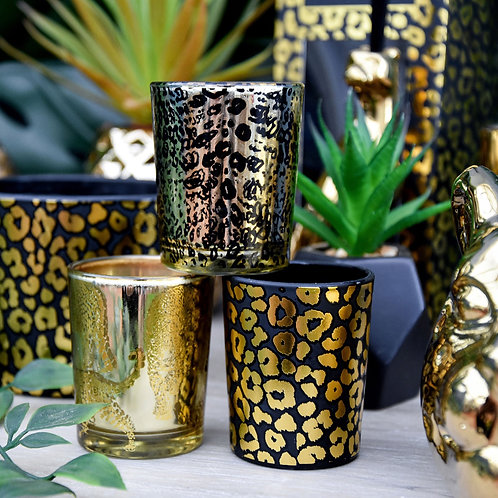 Leopard Candle Set of 3