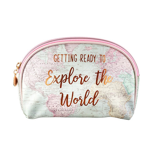 Explore the World Travel Themed Cosmetic Bag