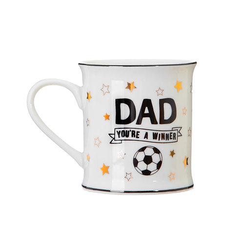 Dad You're a Winner Football Logo Mug