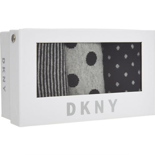 DKNY Black & Grey Socks Three Pack Set For Women