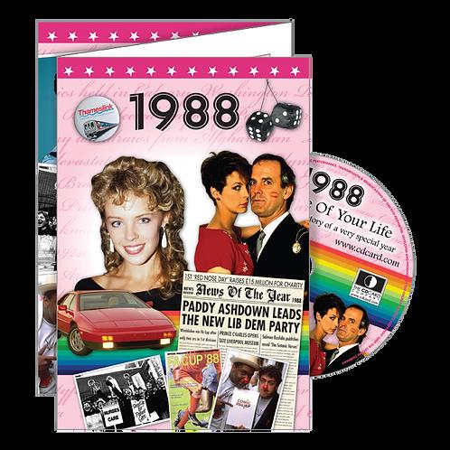 1988 Year of Birth Greeting Card + DVD