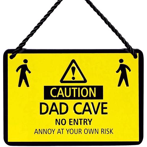 Dad Cave Hang up Plaque