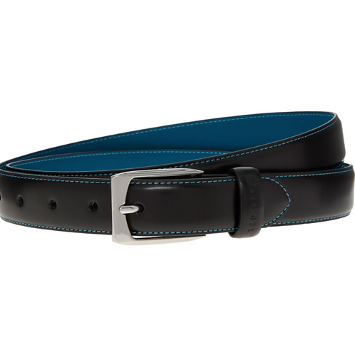 TED BAKER Black Leather Belt