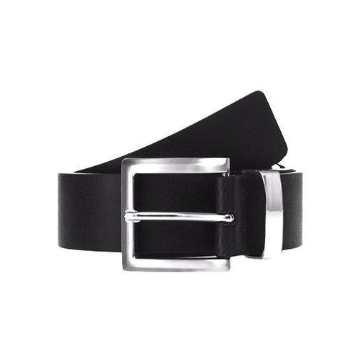 1788 Black Leather Belt + Silver Buckle