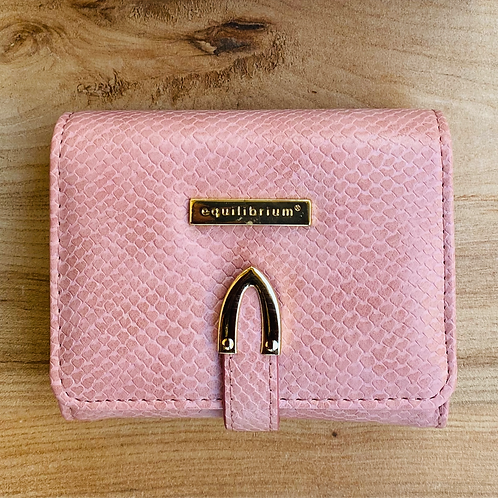 Embossed Small RFID Purse Pink