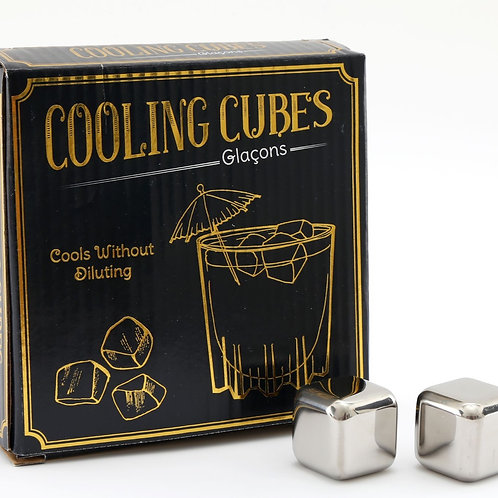 Stainless Steel Cooling Cube Set of 4