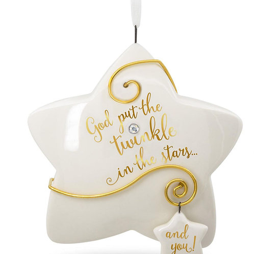 Hallmark Godchild You Shine Ornament NWT