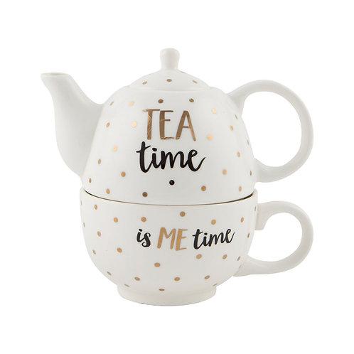 Tea Time is ME time TeaPot Set