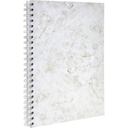 BOS White Marble A4 Notebook