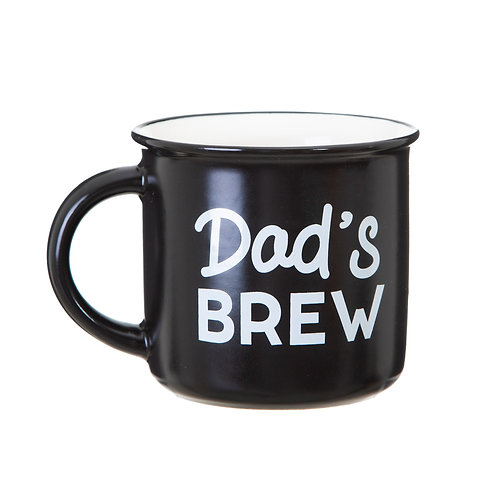 Dads Brew Black and White Mug