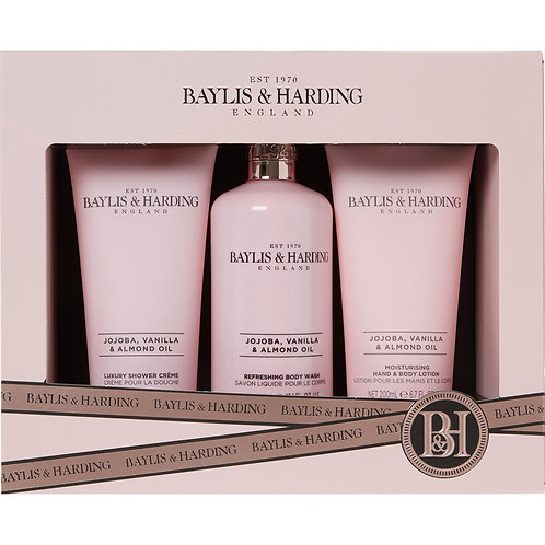 BAYLIS & HARDING Three Piece Jojoba Vanilla & Almond Set