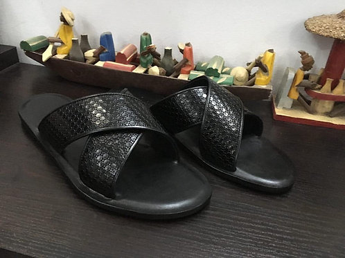 Mens Leather Slippers (Size 43)