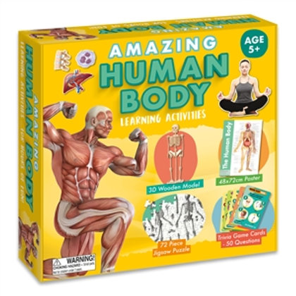 Amazing Human Body Learning Activities Set - For Kids