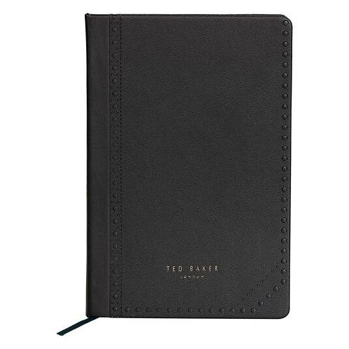 Ted Baker Black Brogue A5 NoteBook