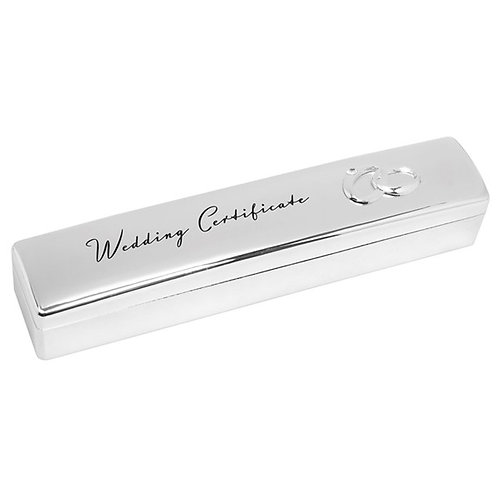 Sterling Silver Marriage Certificate Holder