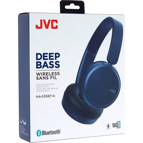 JVC Deep Bass Wireless Headphones (Navy Blue)