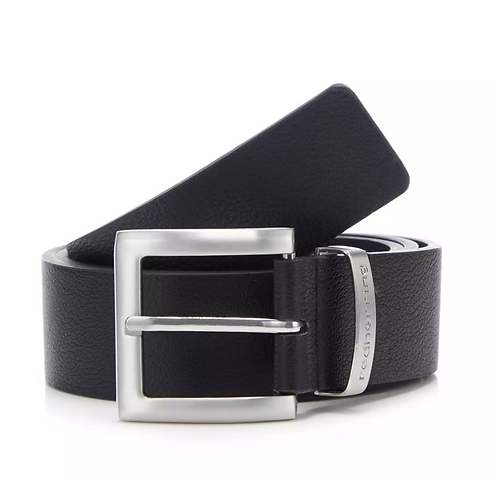 Red Herring Black Leather Belt