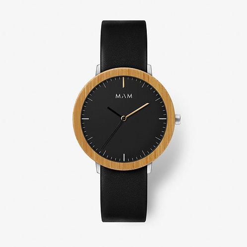 MAM Black Bamboo Bezel Ferra Watch
