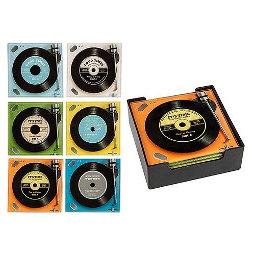 Vinyl Record Coasters (Set of 6)