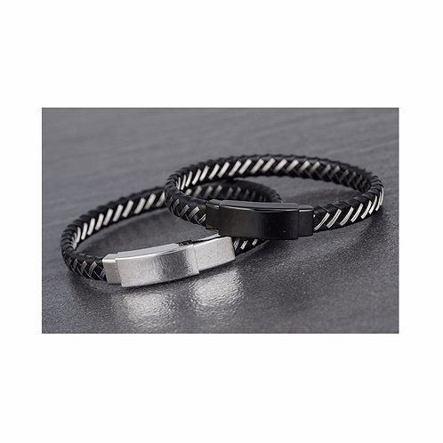 Men's Leather Bracelet IV - 1pc