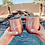 Thumbnail: Rose Gold Stemless Wine Glass Tumbler with Lids