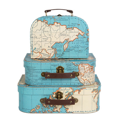 World Traveller Map Mini Gift Suitcase