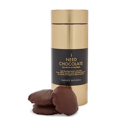 HARVEY NICHOLS I Need Chocolate Biscuits Gold Tin 260g