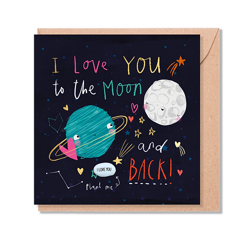 LOVE YOU to the MOON Magical Plant Card