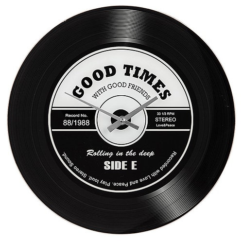Good Times Vinyl Record Clock