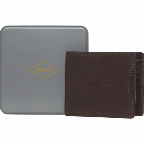 FOSSIL Dark Brown Leather Wallet