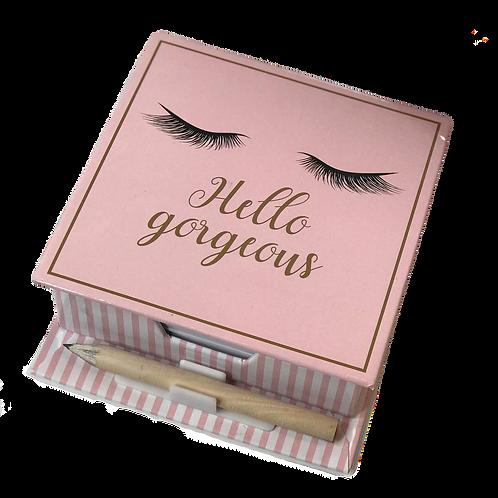 Hello Gorgeous Eyelash Memo Note Set