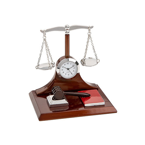 Scale of Justice Clock