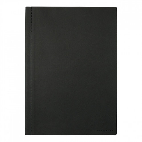 HUGO BOSS Black A4 Twill Notebook