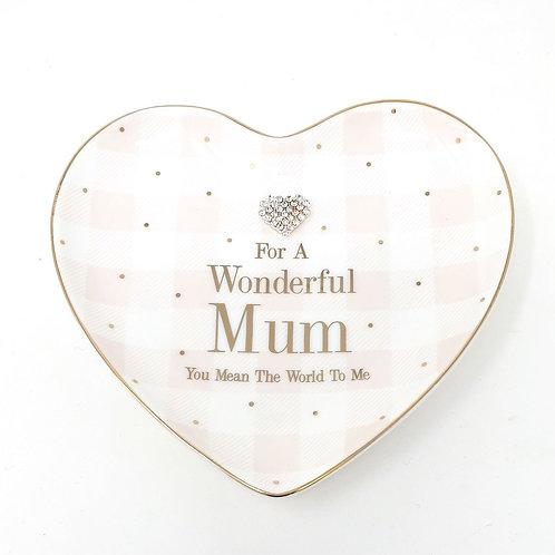 For a Wonderful Mum Trinket Dish