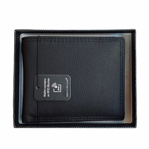 RFID Leather Wallet Black