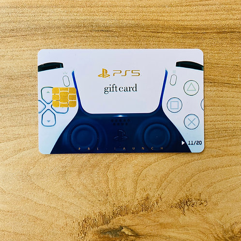 PS5 GIFT CARD (Promissory note) + Mini Envelope